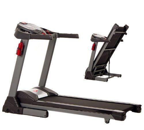 JTX Sprint5 Foldable Motorised Treadmill ~~~ # 2.75hp motor # 7″ blue LCD screen # Choose from 99  workout programs # 22kph maximum belt speed # 160kg user weight limit #Treadmills #Cardio #HomeGym