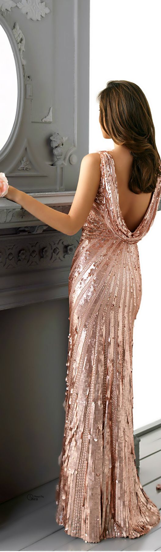 Rose Gold Glitzy Gorgeous Gown
