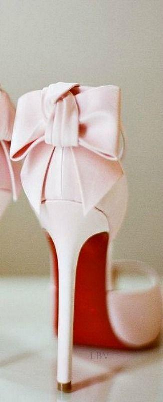 Pink satin Louboutin's