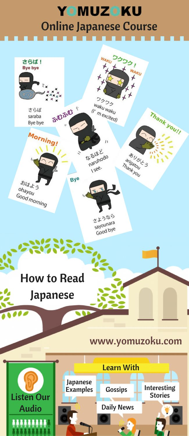 Yomuzoku is an online Japanese course which helps you to understand and learn Japanese, by providing its translation and pronunciation.