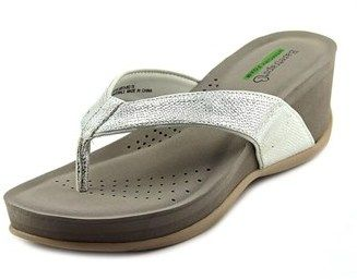 Bare Traps Baretraps Gammie Women Open Toe Synthetic Silver Wedge Sandal.