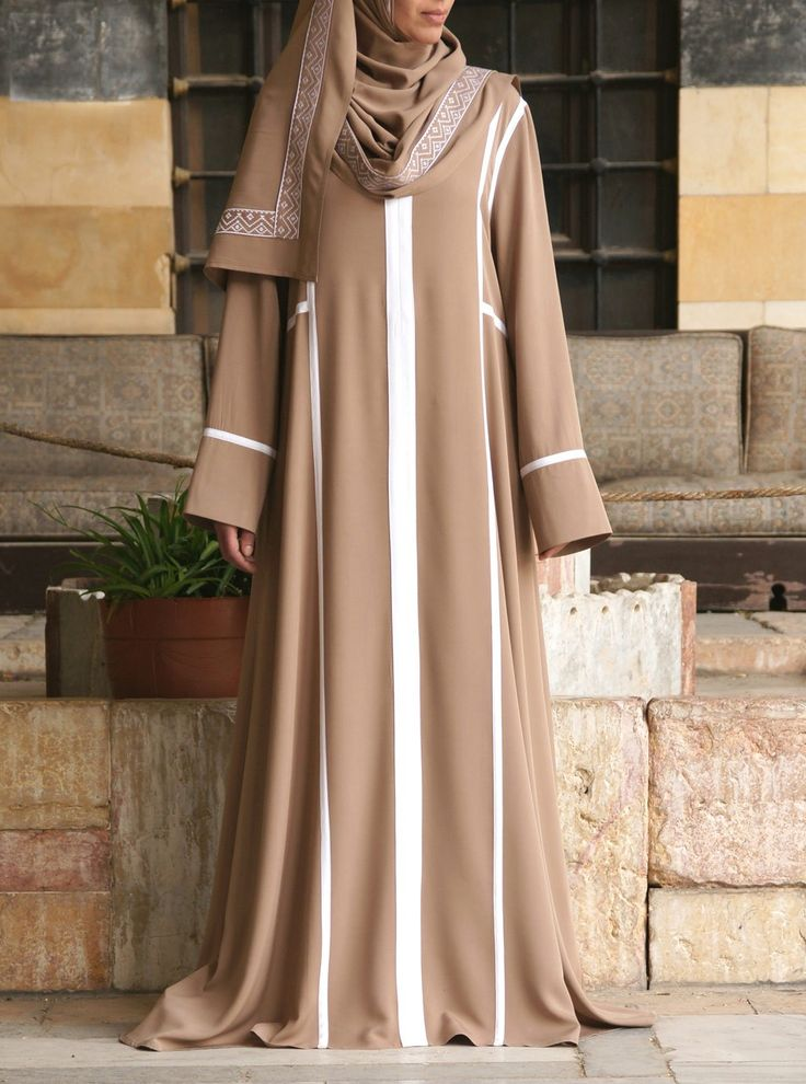 Skillfully tailored and beautifully styled, the two piece Embroidered Abaya from Shukr