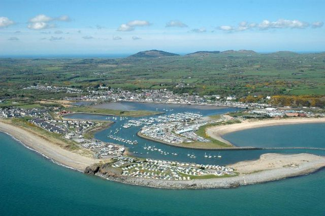 Pwllheli from the air