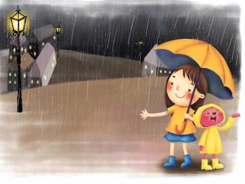 Kinderliedje met beeld parapluutje parasolletje paraplu parasol eentje voor de regen en - Zon parasol ...
