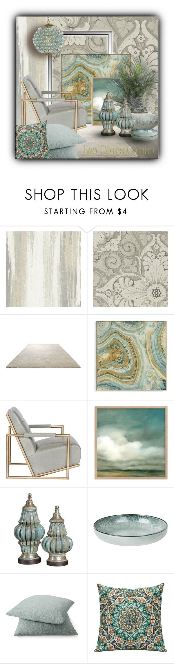 """""""Two Colors Combo"""" by sapora ❤ liked on Polyvore featuring interior, interiors, interior design, home, home decor, interior decorating, York Wallcoverings, ESPRIT, Grandin Road and Rodeo Home"""