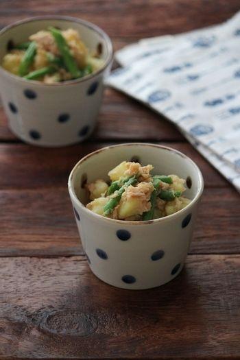 じゃがいもとインゲンのツナ和え。 by 栁川かおり | レシピサイト Nadia | 和食のあと一品ならこちらのレシピを。じゃがいも、いんげん、ツナ、麺つゆだけで作れちゃいます。ツナはオイル漬けのものを使って、オイルごと和えると美味しいですよ。