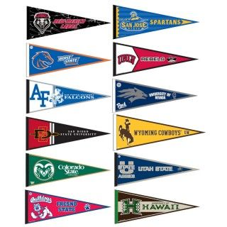 Mountain West Conference Pennants consists of all Mountain West Conference school pennants and measure 12x30 inches. All 12 Mountain West Conference teams are included and...