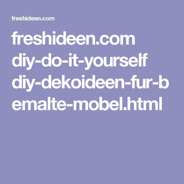 Freshideen.com Diy Do It Yourself Diy Dekoideen Fur