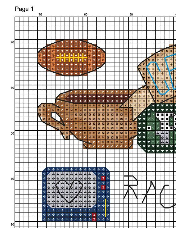 This PDF counted cross stitch pattern available for instant