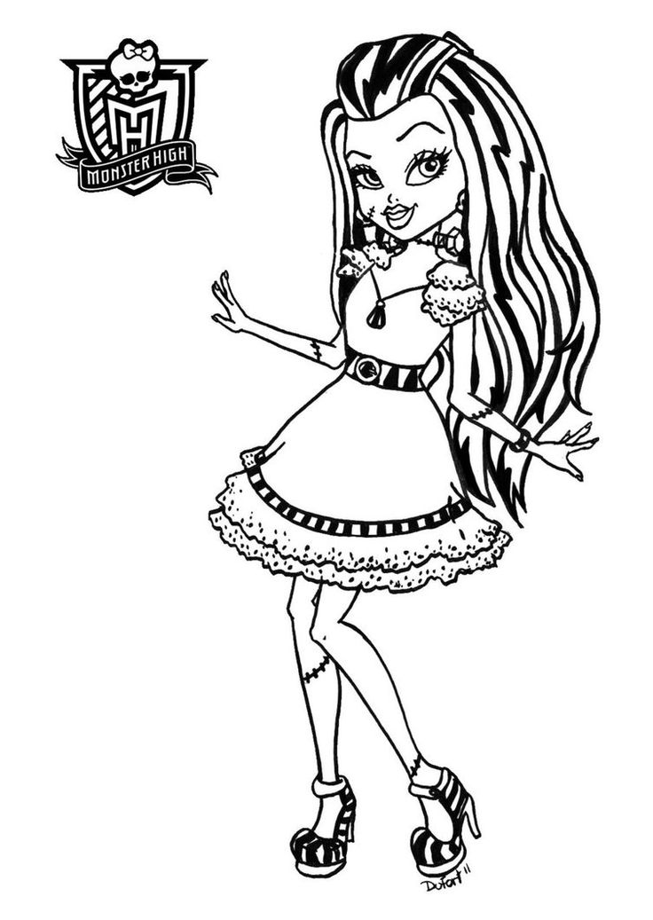 20 Best Monster High Images On Party Coloring Pages Frankie Stein Sweet 1600