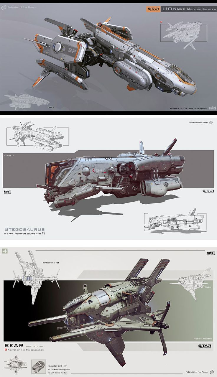 mecha concepts by Karanak