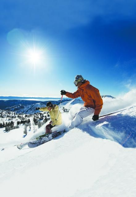 Skiing in the Truckee and Lake Tahoe area in California!