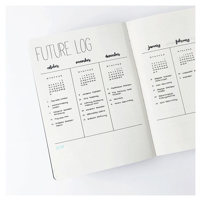 I thought it would be a great idea to show you a closer version of the future log since so many of you liked it! I decided to try a more natural look for my photos, I can't decide what kind of theme I want for my Instagram feed. I'm so indecisive when it comes to my photos, it's like my bullet journal. i need to change things all the time. I hope my experiments don't bother you! ____________ Ich dachte, es wäre eine gute Idee, euch eine Nahaufnahme des future Logs zu zeigen, da es so viele…
