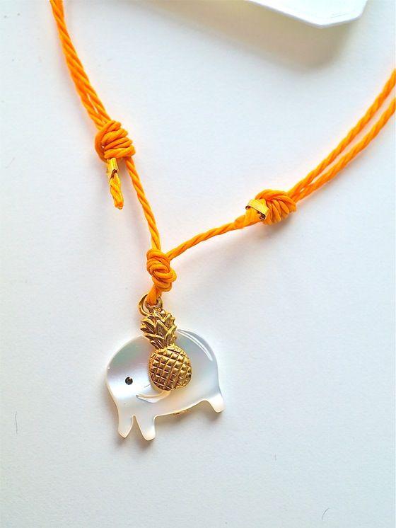 Image of Elephant and pineapple bracelet