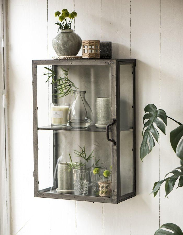 Metal And Glass Wall Cabinet Wall Cabinet Glass Shelves Kitchen