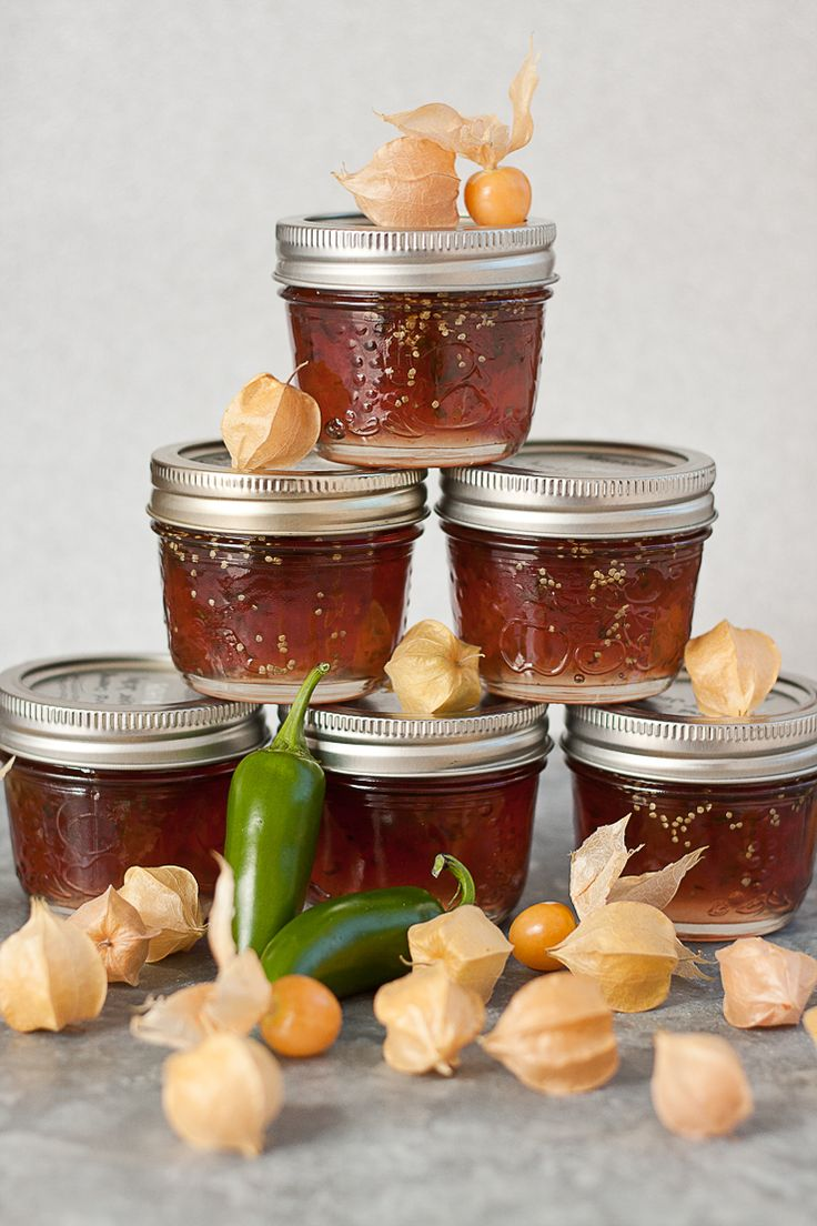 Ground cherry jalapeno pepper jelly — great over a warm brie or cool cream  cheese | www.pickyotplenty.com