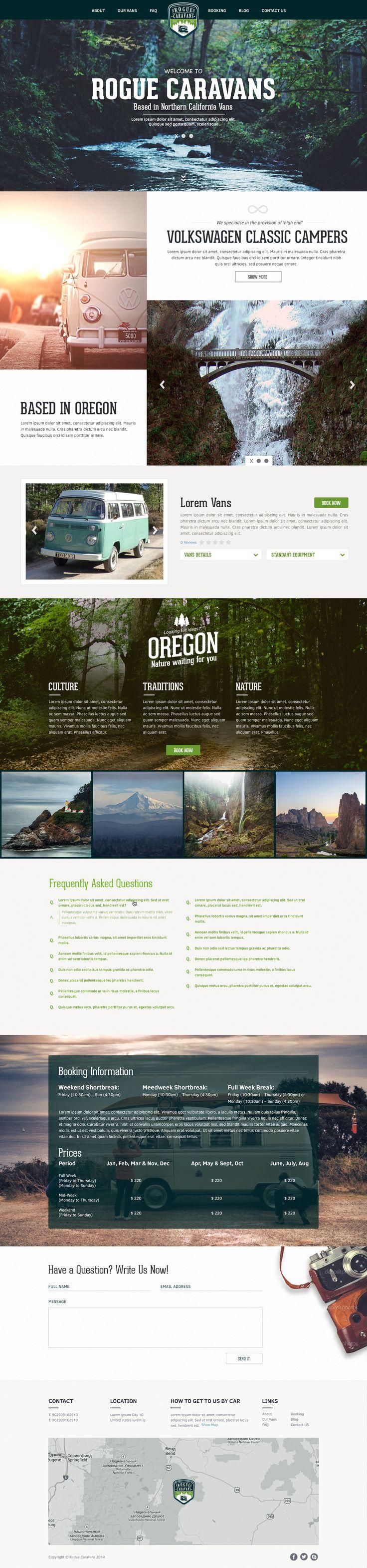 Caravan Web Design by Alex Cross on 99Designs