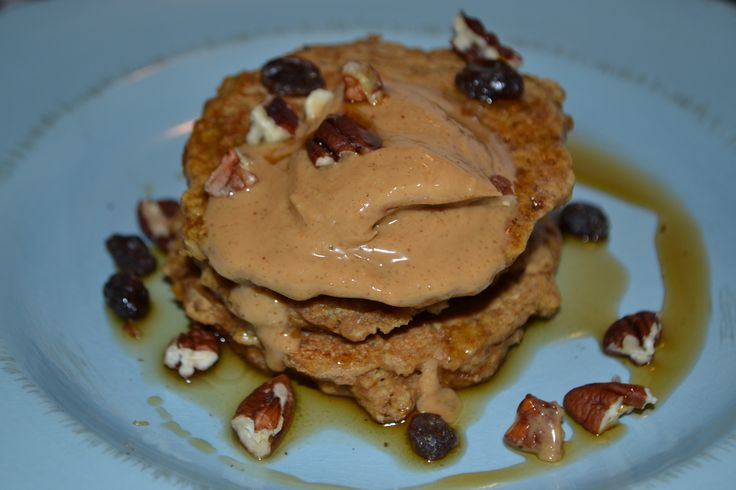 Whole Wheat Pumpkin Oatmeal Pancakes with Mighty Maple Peanut Butter ...