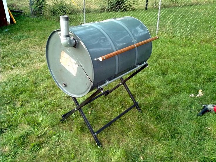 how to clean an oil drum for a bbq