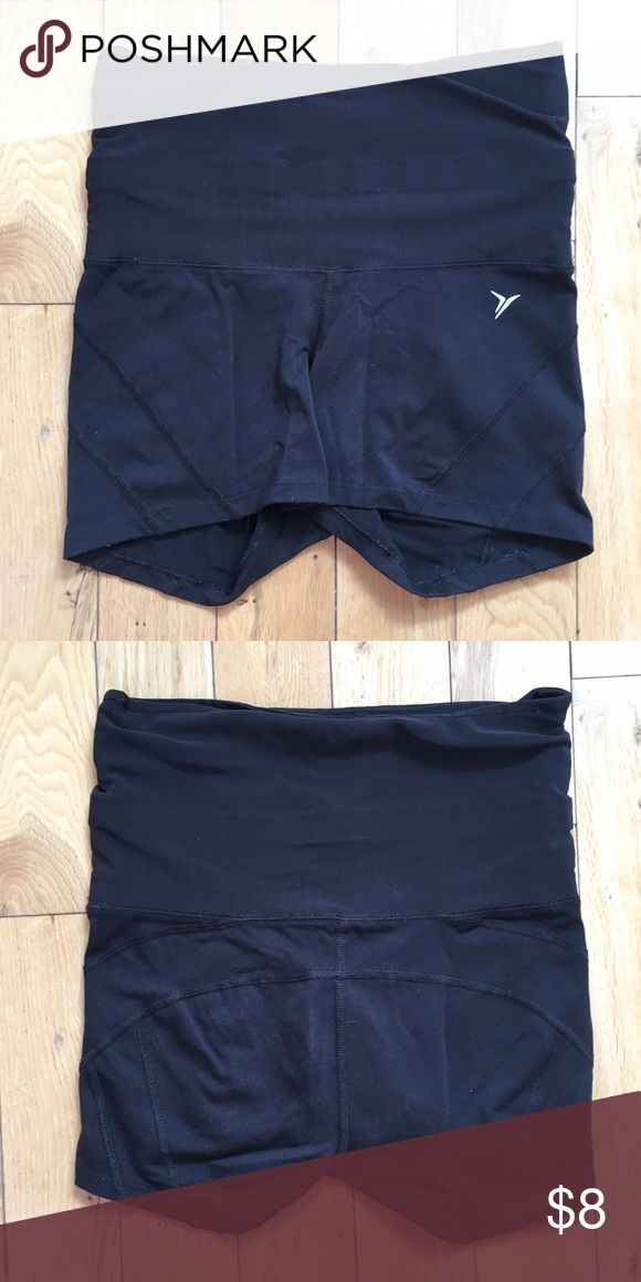 Old Navy Active black moisture wicking shorts Black spandex dry-fit shorts for running or gym Old Navy Shorts