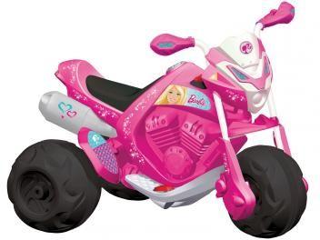 Moto Elétrica Infantil Barbie Moto Trail 2 Marchas - com Som de Motor - Bandeirante