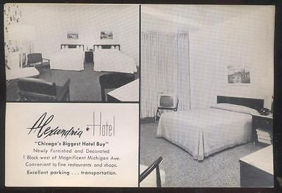 Postcard chicago illinois/il  alexandria #hotel #bedroom suite dual view #1930's,  View more on the LINK: 	http://www.zeppy.io/product/gb/2/371581990053/
