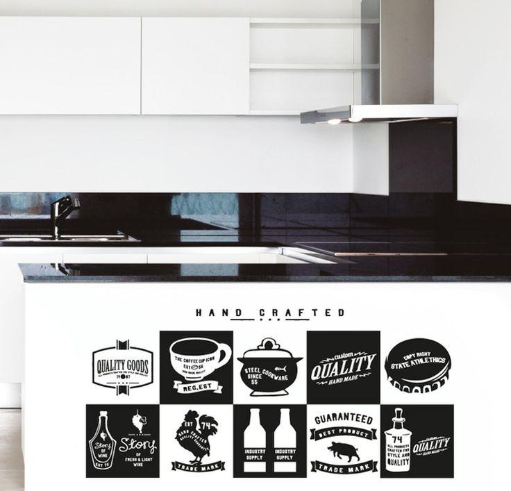 QUALITY GOODS http://www.myvinilo.com/vinilos-decorativos-cocina/quality-goods.html Víveres estampados retro style. Vinilos decorativos, hogar, decoración, interiores, pared, diseño, cocina, wall decals, stickers, decoration, design, kitchen, herbs, home, nevera, fridge.