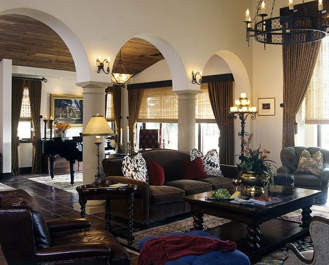 Spanish Colonial Living Room Spanish Classic Arches