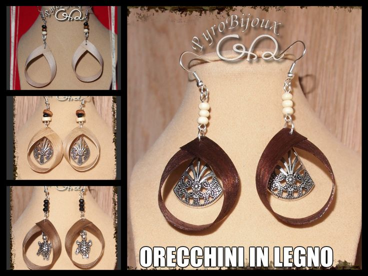 Orecchini in legno - Wood Earrings
