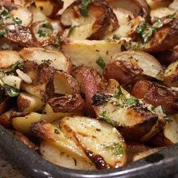 Greek Potatoes with Lemon Vinaigrette | Potatoes, Lemon ...