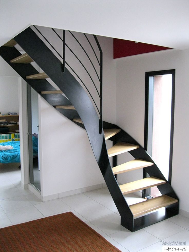 les 25 meilleures id es de la cat gorie escalier bois metal sur pinterest escalier fer. Black Bedroom Furniture Sets. Home Design Ideas