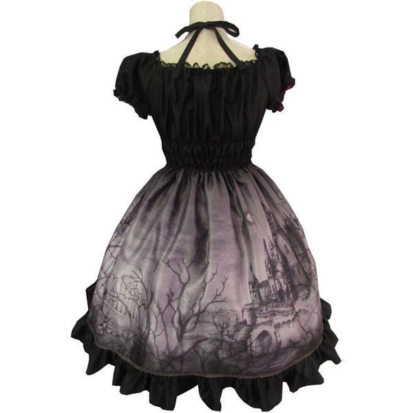 The Castle of Otranto OP Black (Midnight) (€270) ❤ liked on Polyvore featuring dresses, heart dress, sleeve dress and heart shaped dress