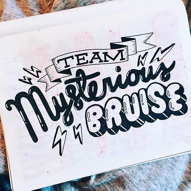 I'm self appointed captain of this team.. where do the come from? WHO KNOWS ‍♀️ #handlettering #handdrawntype #lettering #typography