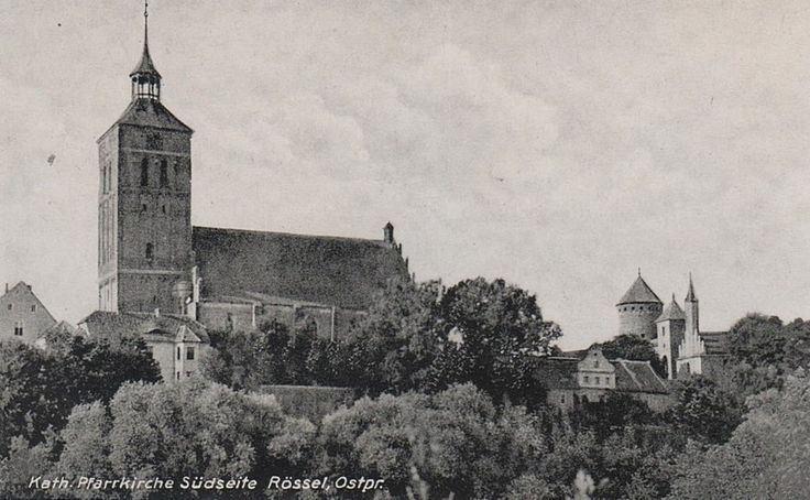 Kath. Pfarrkirche Südseite Rössel, Ostpr.