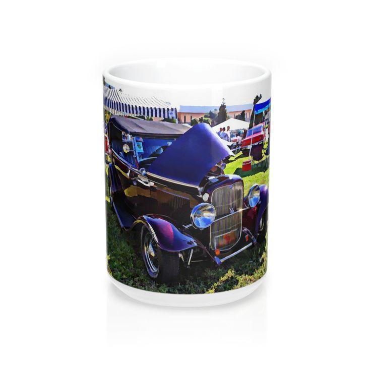 32 Ford Coffee Mug, Hotrod Coffee Mug, Vintage Car Coffee Mug, Coffee Mugs for Guys