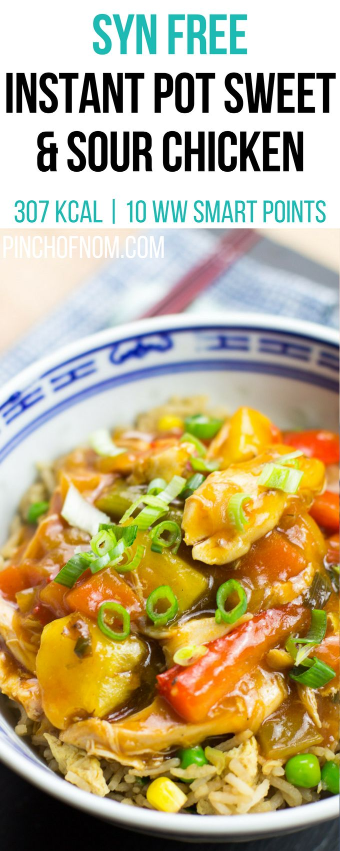 Syn Free Instant Pot Sweet And Sour Chicken | Pinch Of Nom Slimming World Recipes 307 kcal | Syn Free | 10 Weight Watchers Smart Points