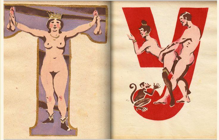 хуи: Naughty, Art, Sergey Merkurov, Erotic Alphabet, Alphabet Book, Soviet Erotic, Painting, Erótico Soviético