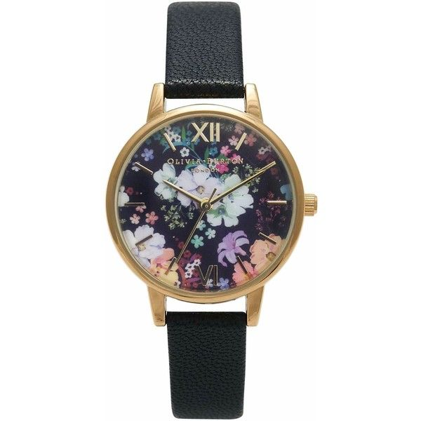 Olivia Burton OB15FS55 Women's Stainless Steel Flower Show Leather... found on Polyvore