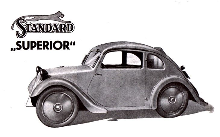 """1934 Standard Superior The origins of the VW Beetle are a little more complicated than that, with the idea for an affordable """"people's car"""" actually being first put forward by a young Jewish engineering student by the name of Josef Ganz (1898 – 1967)."""