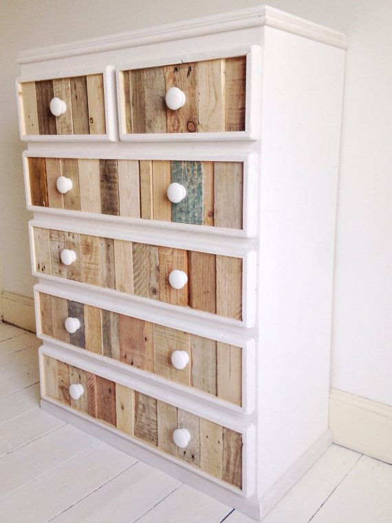 Handmade Modern Rustic Chest of Drawers Vertical