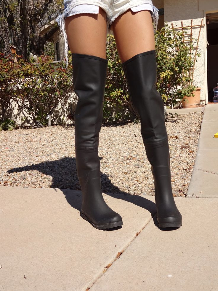 Thigh High Rubber Boots Bsrjc Boots