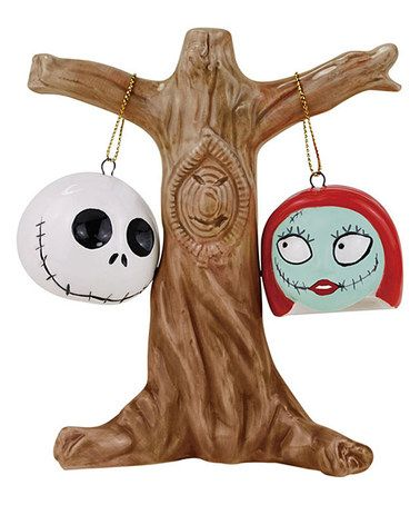 This Jack & Sally Salt & Pepper Shaker Set is perfect! #zulilyfinds