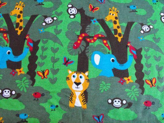 JNY Organic Jungle Jersey knit by JerseyJollies on Etsy