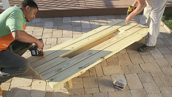 DIY Picnic Table with Built-in Cooler Step 5