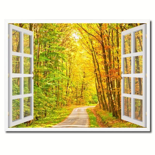 Autumn I Fall Landscape In Park Art Print Home Decor Wall Art Poster
