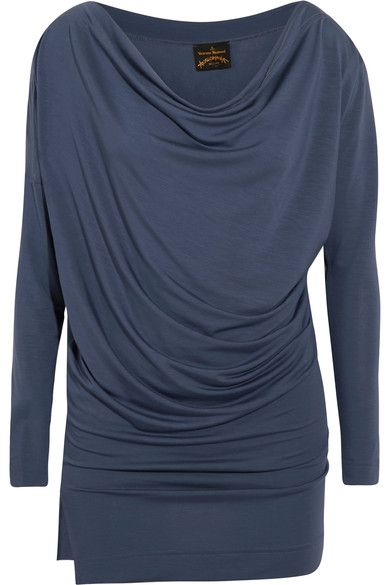 Navy stretch-jersey Slips on 96% Lyocell, 4% elastane Dry clean Made in Italy