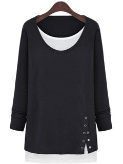 Ericdress Spring Loose Long-sleeved T-shirt