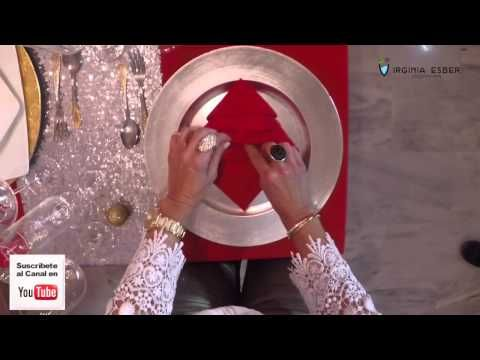 Como hacer una servilleta en forma de Arbol de Navidad - YouTube