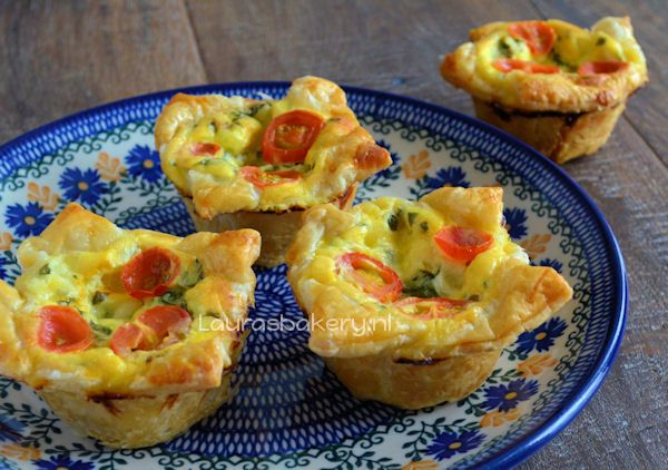 Mini Caprese Quiches - Laura's Bakery