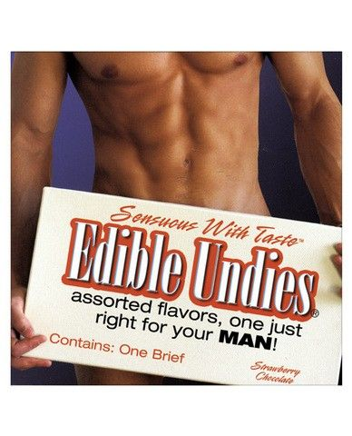 Edible Undies for Men Strawberry Chococlate Lots of licking, body heat and moisture all enhance the flavor of this edible brief. Tie strings loosely to avoid breakage, lie back and enjoy! One size fits most. Yummy!  58,12 kr https://adultshopping.no/mens-underwear/18250-edible-undies-for-men-strawberry-chococlate.html